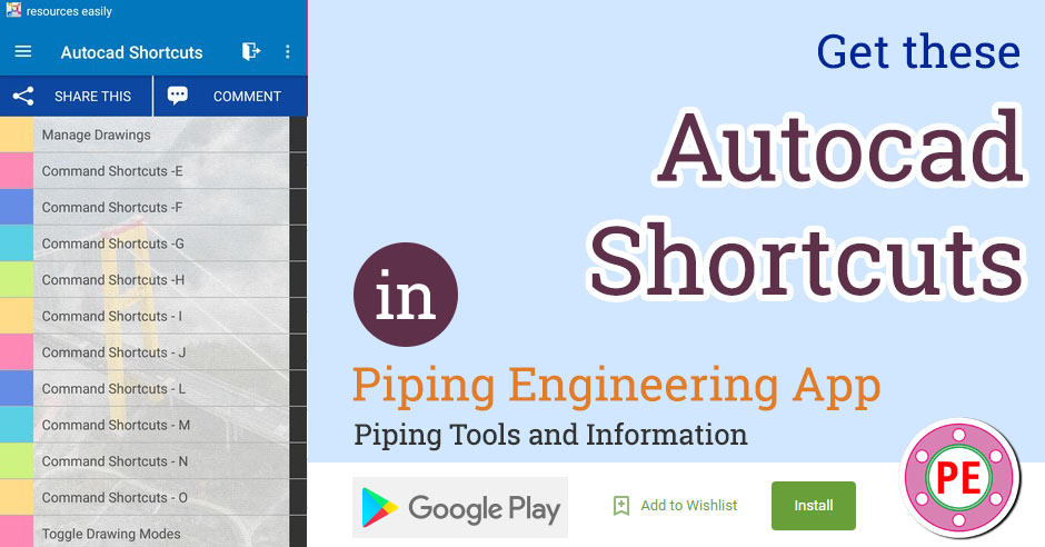Autocad Shortcuts » The Piping Engineering World