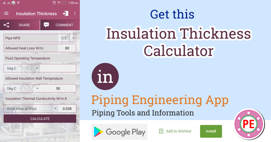 Calculation of Insulation Thickness for Pipes » The Piping