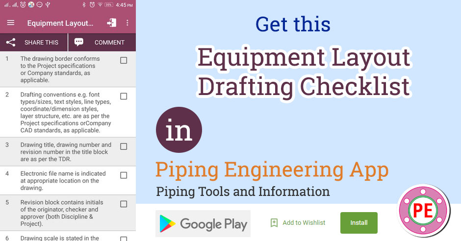 Checklist Equipment Layout Drafting The Piping Engineering World
