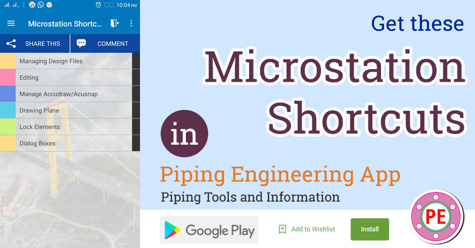 Microstation Shortcuts » The Piping Engineering World