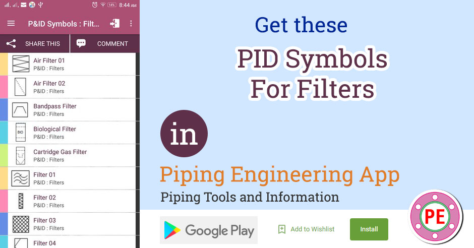 p&id symbols for filters