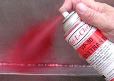 Penetrant Application for Dye Penetration Testing