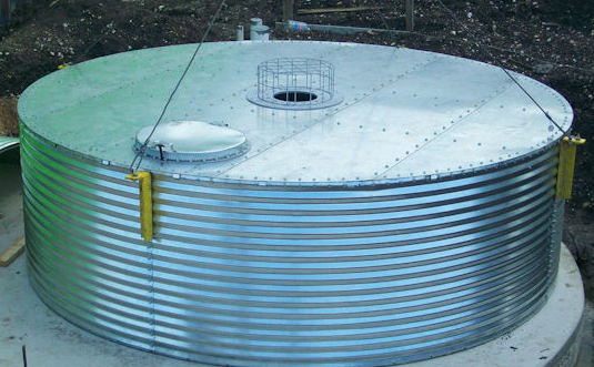 Flat Roof Storage Tank for Water