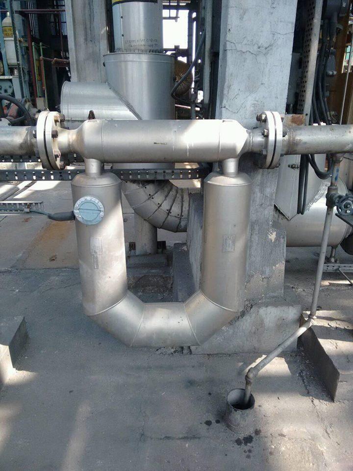Installed Coriolis Mass Flow Meter
