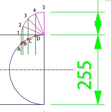 Lateral Stub In Template Calculation Step 6