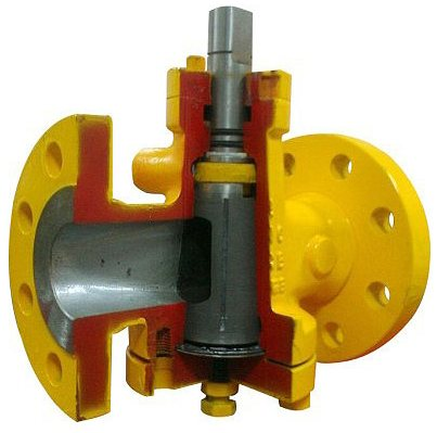 Lubricated Plug Valve Cut Section