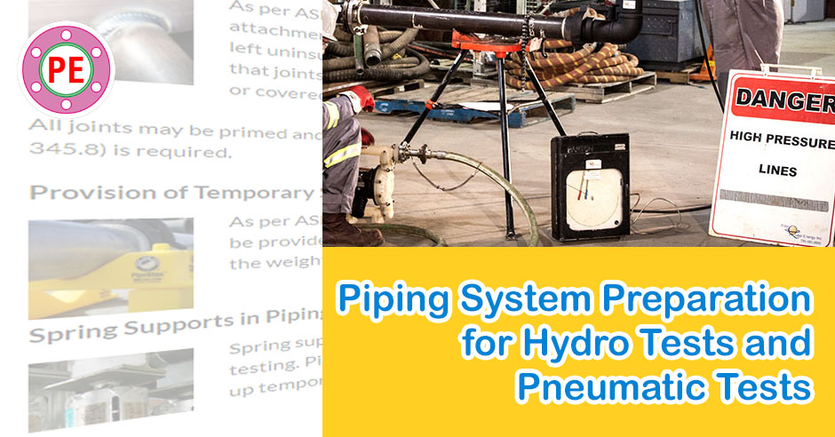 Piping System Preparation for Leak Tests