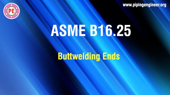 ASME B16.25