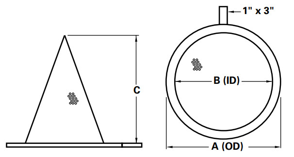 Conical Strainer Dimensions