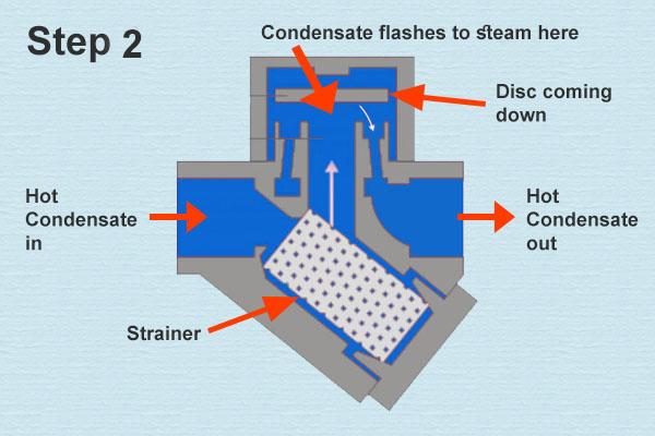 Thermodynamic Steam Trap Step 02