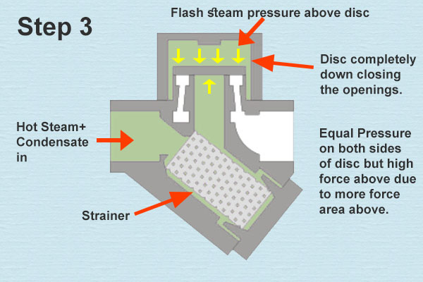 Thermodynamic Steam Trap Step 03