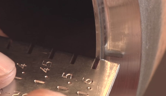 Measuring Bevel Thickness