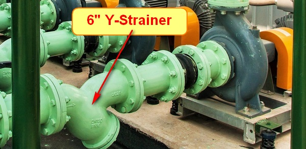 Y Strainer in Pump Suction
